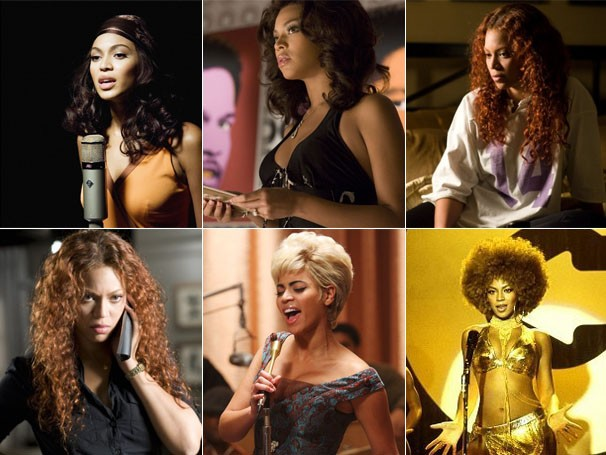 """Beyoncé em: """"Dreamgirls - Em Busca de um Sonho"""", """"Obsessiva"""", """"Cadillac Records"""" e """"Austin Powers em O Homem do Membro de Ouro"""" (Foto: Divulgação)"""