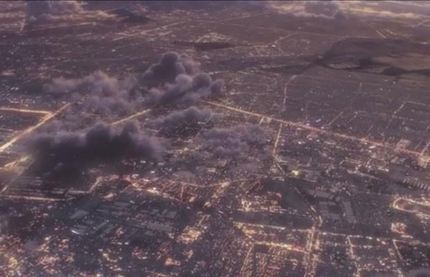 Cena do vídeo publicado por iniciativa Internet.org, liderada pelo Facebook, que desenvolve drones e satélites para fornecerem internet via raio laser. (Foto: Reprodução/YouTube)