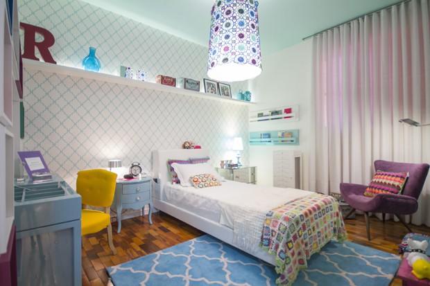 Décor do dia: quarto romântico e jovem