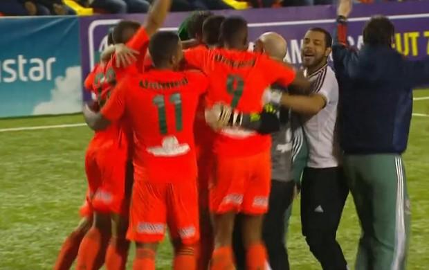 Fluminense comemora título da Liga das Américas de Futebol 7 (Foto: Reprodução SporTV)