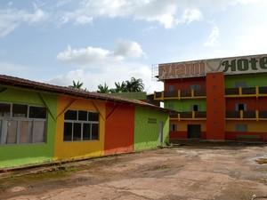 Hotel de R$ 4 mi e atualmente está sem uso (Foto: Abinoan Santiago/G1)