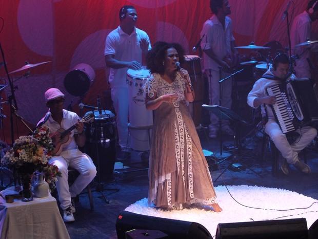 Mariene de Castro em show no Centro do Rio (Foto: Anderson Borde/ Ag. News)