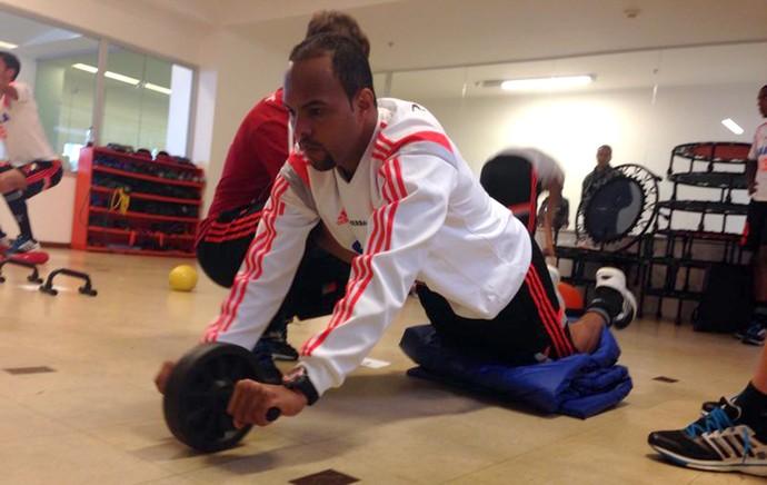 flamengo treino academia  (Foto: Vitor Rodriguez/Divulgação/Flamengo)