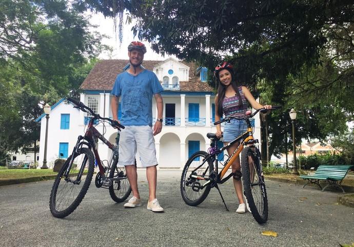 Thalita e Guilherme visitam o Norte catarinense (Foto: RBS TV/Divulgação)