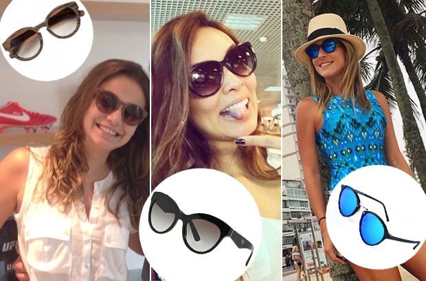 Milena Toscano, Carol Nakamura e Carol Buffara com seus modelos favoritos. (Foto: Reproduo Instagram / Divulgao)