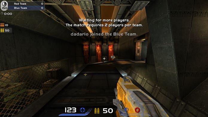 Gráficos não são o grande atrativo de Quake Live, mas sim, a jogabilidade frenética  (Foto: Reprodução / Dario Coutinho)