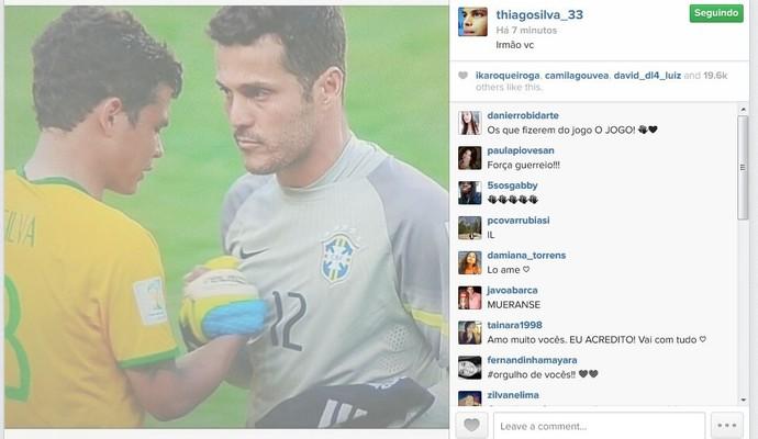 """Thiago Silva manda recado para Julio César: """"Irmão"""" (Foto: Reprodução/Instagram)"""
