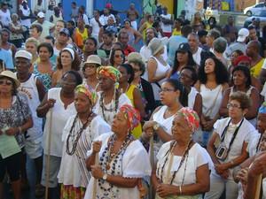 Lavagem de Itapuã (Foto: Naiá Braga/G1)