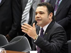 O deputado Marco Feliciano (PSC-SP), durante sessão desta quarta (27) na Comissão de Direitos Humanos (Foto: Alexandra Martins/Agência Câmara)