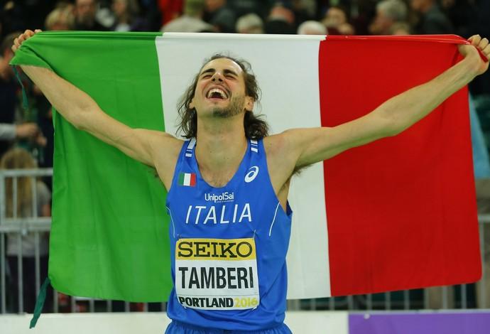 Gianmarco comemora título mundial em Portland (Foto: Reuters)