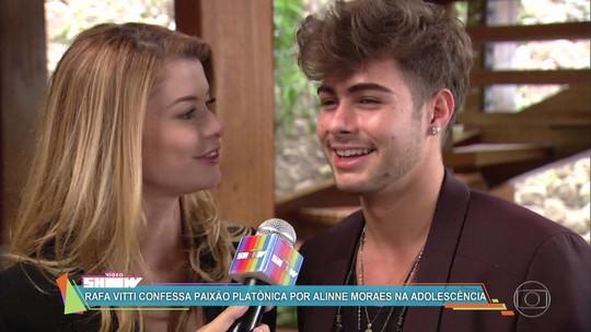 Rafael Vitti fala sobre amor platônico de infância por Alinne Moraes, e atriz diz: 'Achei incrível'