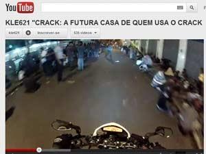 Atalla passa por rua na Cracolândia e discursa contra as drogas (Foto: Reprodução)