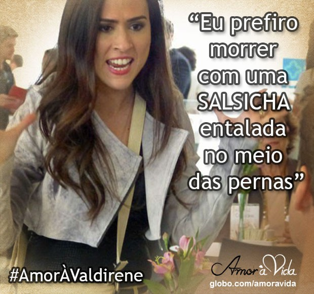 Valdirene enfurecida (Foto: Amor à Vida / TV Globo)