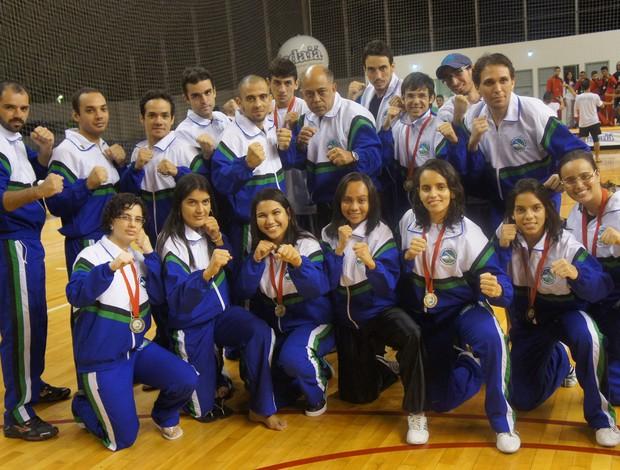 Delegação do RN conquistou nove medalhas no 23º Campeonato Brasileiro de Kung Fu (Foto: Luciana Rocha/Divulgação)