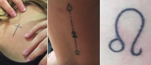 Tattoos da Sasha (Foto: Reprodução/YouTube)