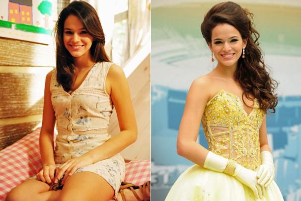 Já adolescente, viveu Teresinha, em Araguaia (2010), e Belezinha, em Aquele Beijo (2011) (Foto: CEDOC Globo)