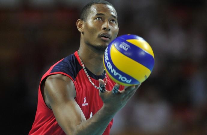 Kervin Pinerua, jogador de vôlei venezuelano (Foto: Piotr Hawalej / Getty Images)