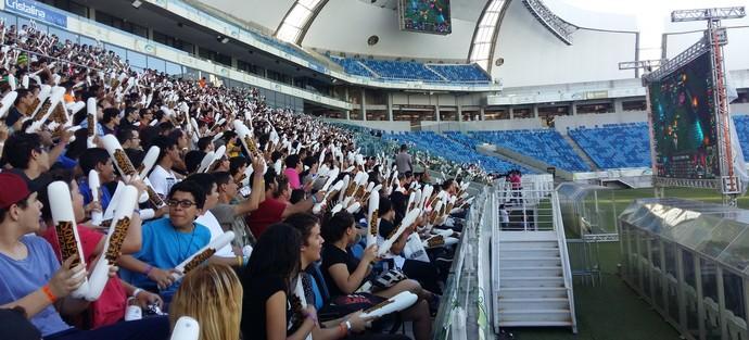 Arena das Dunas recebeu quase cinco mil pessoas (Foto: Jocaff Souza)