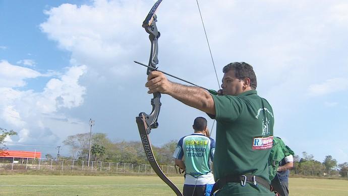 Tiro com arco e flecha será implantado no AP para dar visibilidade ao esporte  (Foto: Jonhwene Silva-GE/AP)