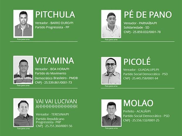 Candidatos com nomes engraçados no Piauí - Capa (Foto: Tribunal Superior Eleitoral - TSE)
