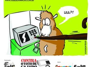 Campanha contra o voto de cajado feita pela Rede Fale (Foto: Reprodução)