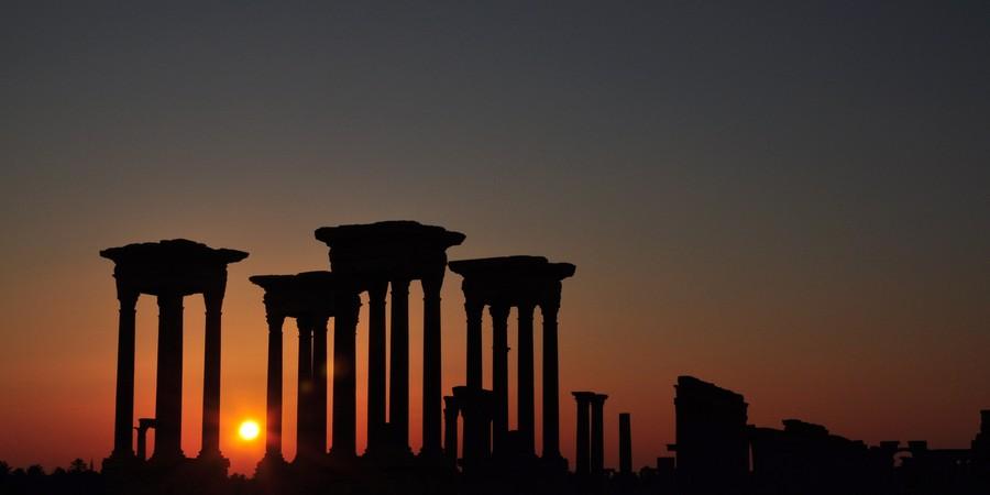 Ruínas da Cidade Antiga de Palmira, na Síria, em foto tirada antes das explosões do Estado Islâmico (Foto: Silvan Rehfeld, UNESCO via AP)