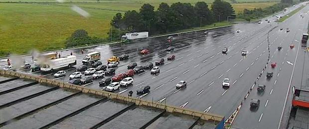 Movimento na praça de pedágio da freeway em Eldorado do Sul, RS (Foto: Reprodução/Concepa)