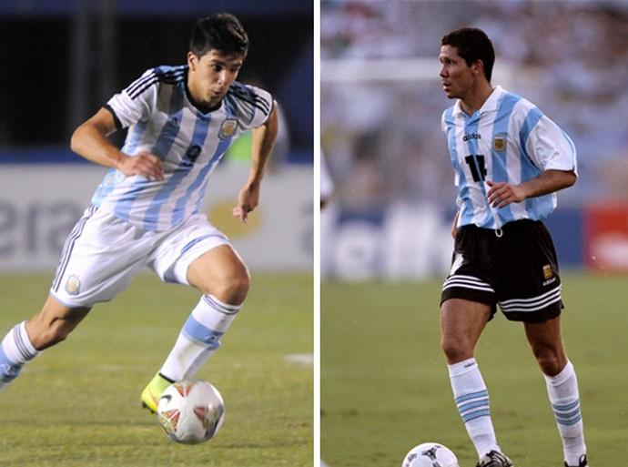 Pai e filho Simeone Argentina (Foto: Getty)