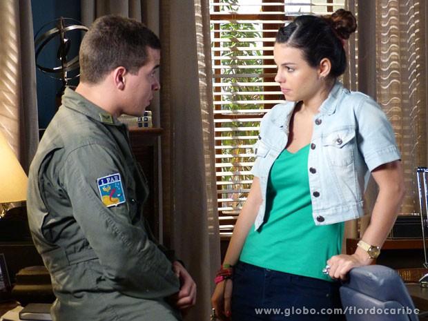 Amaralina termina com Rodrigo (Foto: Flor do Caribe / TV Globo)