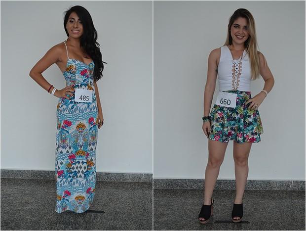 Rita De Cássia Da Silva - MA e Darah Néris De Barros Santos - PB (Foto: Concurso Beleza Nordestina / Divulgação)