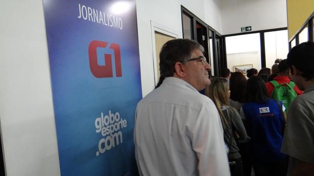 Visita técnica na TV Tribuna (Foto: Jean Fernandes)