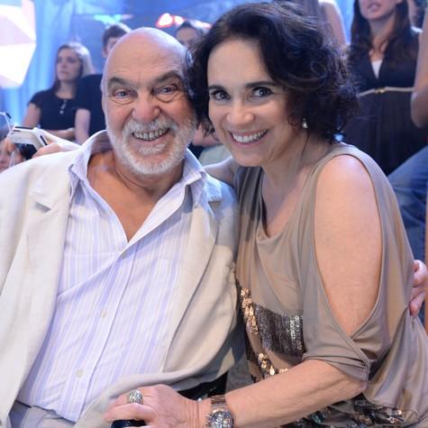 Lima e Regina Duarte (Foto: Zé Paulo Cardeal/TV Globo)