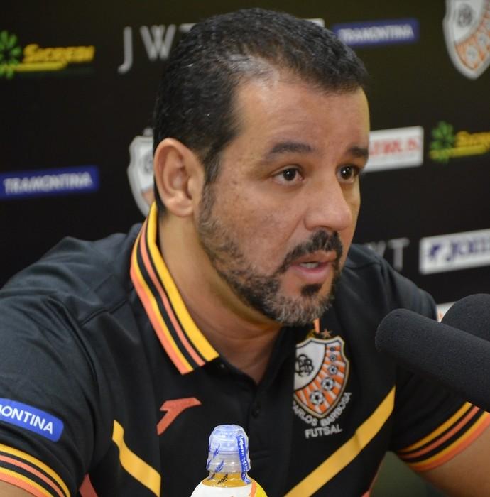 Marquinhos Xavier técnico Carlos Barbosa futsal (Foto: Ulisses Castro/ACBF)