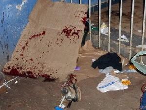 Andarilho morre após ser esfaqueado em Passos (Foto: Weslei Proença / Passos Online)