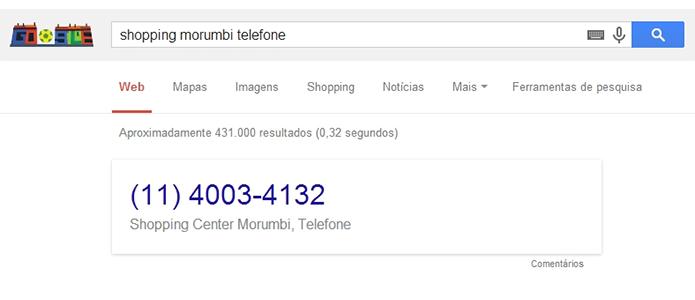 Números de telefone agora são clicáveis também no navegador (Foto: Reprodução/Paulo Alves)
