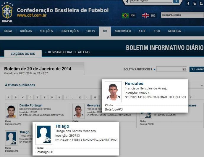 CBF Hercules e Thiago (Foto: Divulgação / CBF)