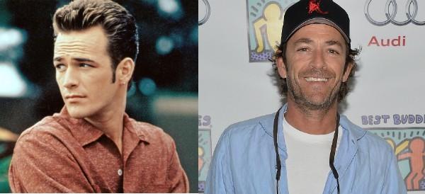 Luke Perry hoje e na época de 'Barrados no Baile' (Foto: Reprodução/Getty Images)