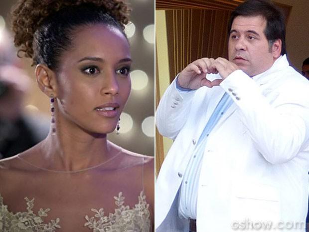 Barata arma uma situação constrangedora para cima de Verônica (Foto: Geração Brasil / TV Globo)