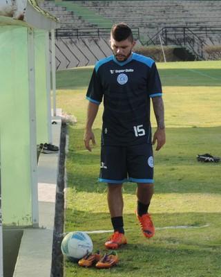 Chico, atacante do Palmeiras emprestado ao São Bento (Foto: Emilio Botta)