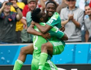 Musa gol Argentina x Nigeria (Foto: Reuters)