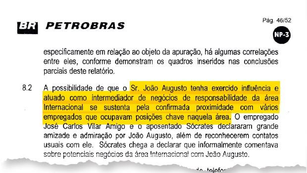 """INFLUÊNCIA João Henriques  e o relatório  da Petrobras.  Ele tinha """"proximidade"""" com empregados (Foto: Reprodução)"""