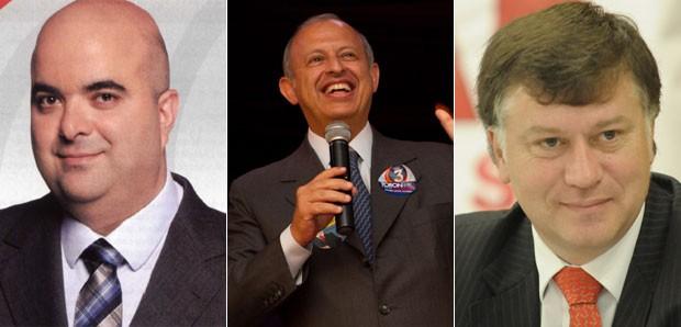 Candidatos à presidência da OAB: Marcos Costa, Ricardo Sayeg e Alberto Toron (Foto: Divulgação)