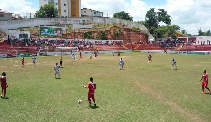 América e Nacional se enfrentam no returno em jogo sem gols (Foto: Ana Carolina Magalhães/ Inter TV dos Vales)