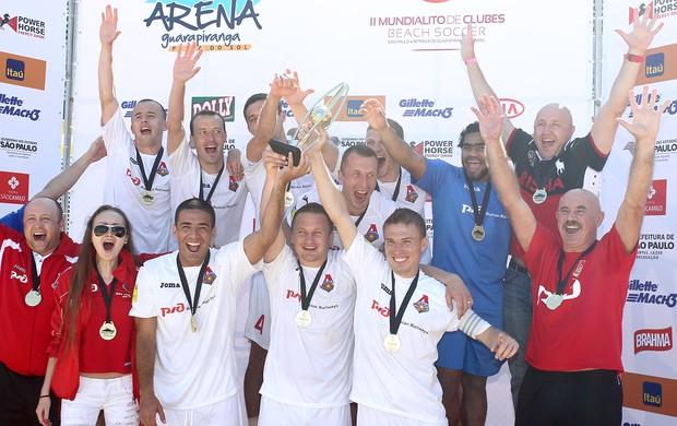 Sorteio dos grupos do Mundialito de futebol de areia (Foto: Divulgação Beach Soccer Brasil)