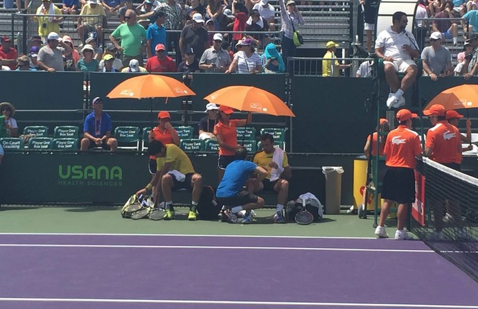 Marcelo Melo e Ivan Dodig Masters 1000 de Miami (Foto: Thiago Quintella)