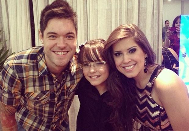 Nasser, Larissa Manoela e Andressa (Foto: Reprodução/Instagram)