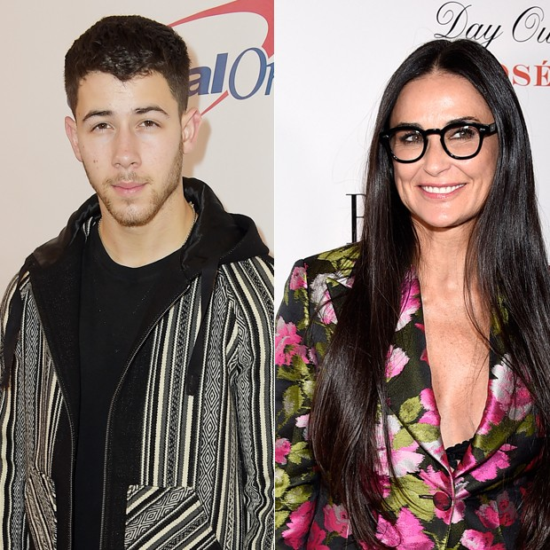 Nick Jonas e Demi Moore (Foto: Getty Images)