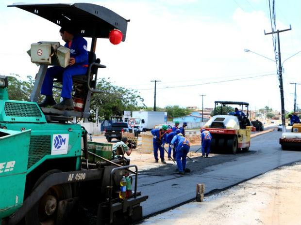 Obras do anel viário avançam na Zona Norte de Natal (Foto: Demis Roussos/Governo do RN)