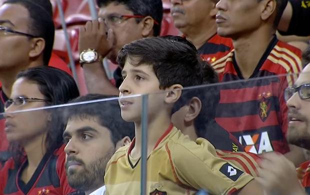 José Henrique, filho de Eduardo Campos; Sport x Palmeiras (Foto: Reprodução SporTV)