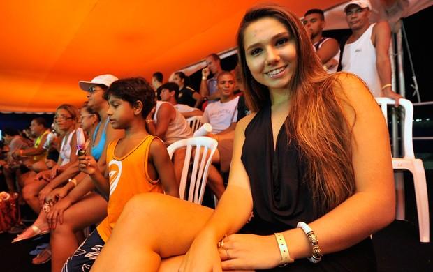 Carol Portaluppi, filha do Renato Gaúcho, no Mundialito de Futêvolei (Foto: Divulgação/AGIF)
